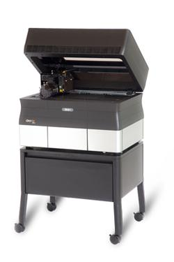 The Objet30 Pro produces high-quality prototypes with a choice of seven different materials and functional properties, including the company's VeroClear transparent material for simulating glass.   (Source: Objet Technologies)