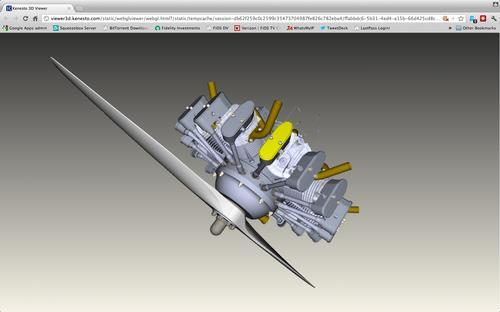 Kenesto supports viewing of 2D and 3D parts files that are attached to processes. By storing product information with the process, Kenesto documents what was done and by whom.   (Source: Kenesto)