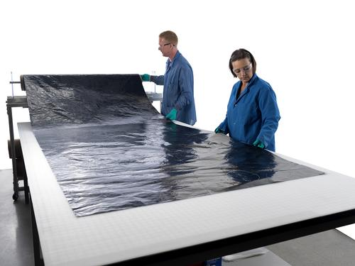 DuPont has invested in Nanocomp Technologies, which makes carbon nanotube-based composite sheet roll material used for ESD protection on the Juno spacecraft.   (Source: Nanocomp Technologies)