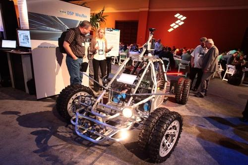 Freescale has been trotting out its concept car, which has gone by the nickname 'Mad Mac' for years. The car, which has evolved considerably over time, features plenty of Freescale's technology.
