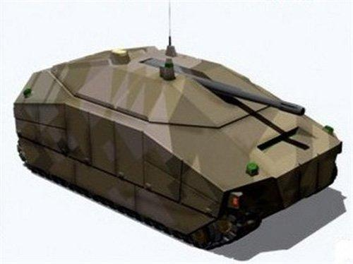 An artist's rendering of a combat fighting vehicle that could be designed through DARPA's FANG (Fast, Adaptable, Next-generation Ground) vehicle program.   (Source: DARPA)