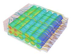 One of the challenges the ANSYS CAE battery models can address is designing EV battery pack cooling flow paths.