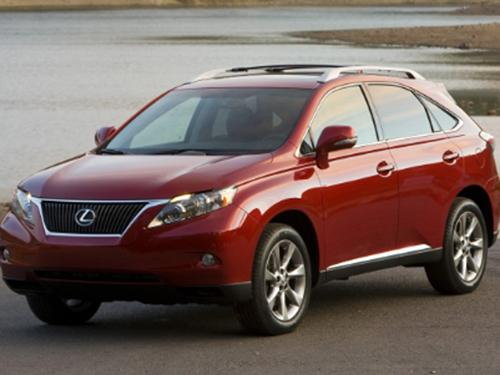 The 2010 Lexus RX 350 was cited in a government recall related to floor mat problems.   (Source: Toyota)