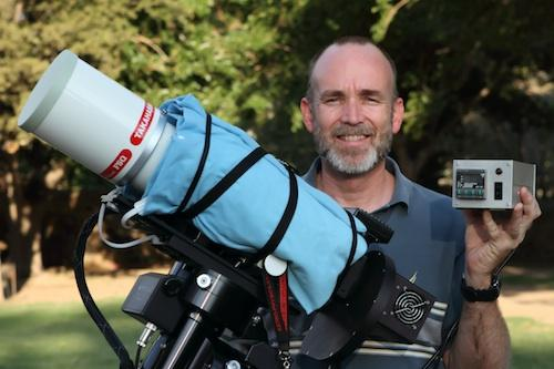 Eric Chesak's telescope thermal focus management system is made up of three main elements: the heater, the power and temperature control system, and the thermocouple for temperature feedback.  