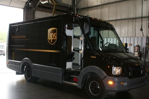 United Parcel Service is planning to shift to composites and other plastics for many of the structural components in its brown delivery trucks, as shown in this prototype.   (Source: UPS)