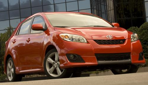 Toyota's Matrix is one of the vehicles recalled during the automaker's 'unintended acceleration' studies. (Source: Toyota)