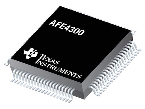 The AFE4300 chip could bring body composition measurement capabilities to the home bathroom scale. (Source: Texas Instruments)