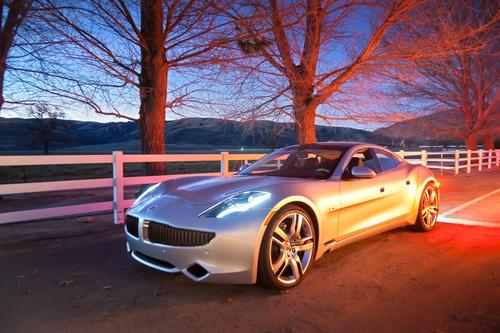 Fisker Karma -- 52 MPGe (combined city + highway): Fisker's elegant plug-in hybrid offers an all-electric range of 32 miles before its extended range powertrain kicks in.   (Source: Fisker)