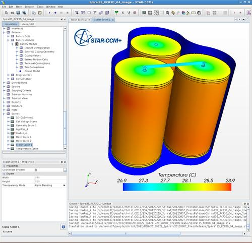 The STAR-CCM+ Battery Simulation Module is designed to simulate spirally wound lithium-ion battery cells. (Source: CD-adapco)