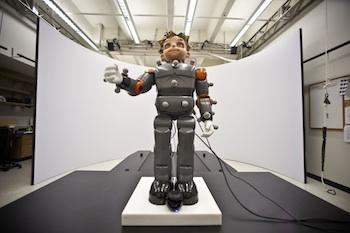 Zeno, developed by Hanson Robotics, is being used in collaborative research by the University of Texas Arlington and the Dallas Autism Treatment Center to explore new ways of treating children with autism.   (Source: University of Texas Arlington)