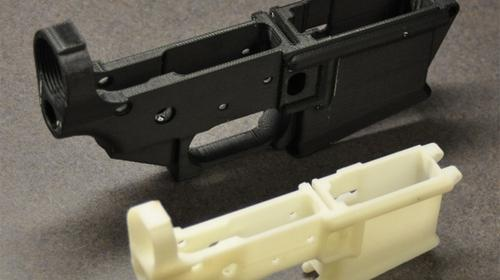 Michael Guslick, a Wisconsin engineer, used a 3D printer and blueprints he pulled off the Internet to create the lower receiver piece of a AR-15 automatic rifle. (Source: Michael Guslick)