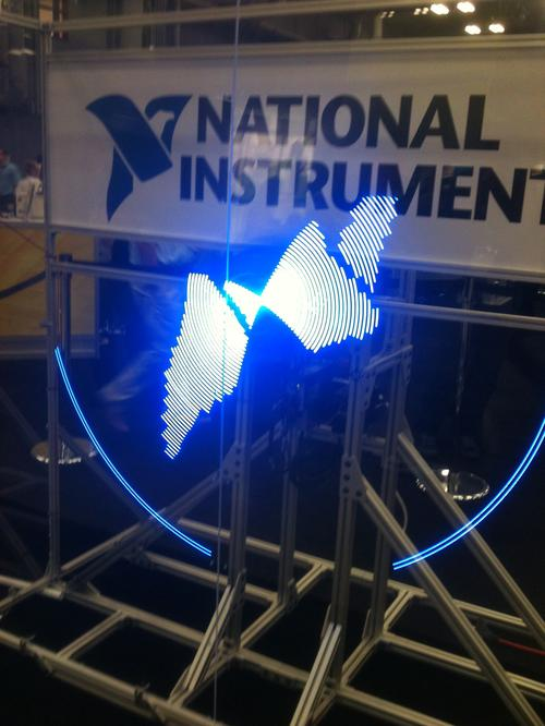 The final image is the logo for National Instruments.