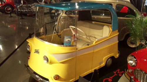 1959 Taylor-Dunn Trident. Decades after the electric buggy and decades before the GM EV1, Taylor-Dunn produced the tiny, three-wheeled Trident between 1959 and 1963. The all-electric Trident was described as a 'neighborhood cart' that could hit a top speed of 16 mph.
