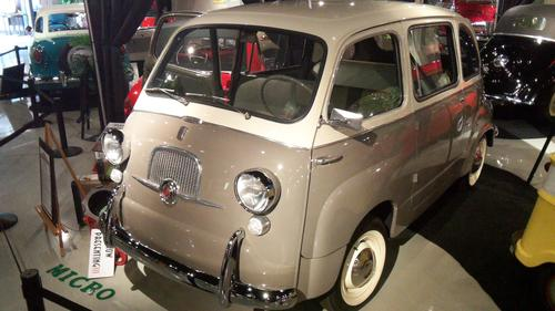 1958 Fiat Multipla. Although it wasn't called a minivan, the Multipla served as a miniaturized version of today's family vans. Powered by a rear-mounted, 21-HP, four-cylinder engine, the Multipla had a top speed of nearly 60 mph.