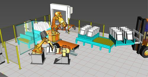 RobotExpert provides an offline programming and simulation tool for creating virtual mock-ups of complete manufacturing cells and systems.   (Source: Siemens PLM Software)