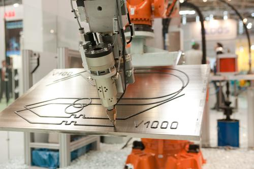Automating gluing techniques for joining composites will require high speed and high accuracy. ABB is integrating dispensing controls into its robots so their speed, path, and glue dispensing are controlled by the robot controller. This robot demonstrates the same quality of glue bead whether the dispensing speed is 100mm/sec or 1,000mm/sec. (Source: ABB Robotics)