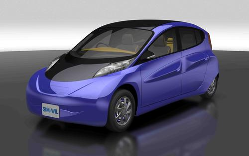Plastics help the SIM-WIL prototype electric vehicle, which has motors in its wheels, travel 218 miles on a single charge, or 30 percent farther than current mass-produced EVs. (Source: DuPont Performance Polymers)