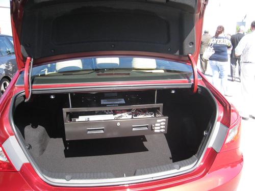 The Department of Transportation's pilot study incorporates prototype vehicle-to-vehicle and vehicle-to-infrastructure electronics on vehicles supplied by volunteer participants.   (Source: McNamara Technology Solutions)