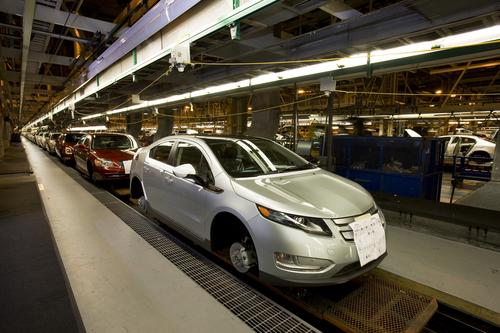 GM will stop production of the Volt at its Detroit-Hamtramck plant from mid-September to mid-October. (Source: GM)
