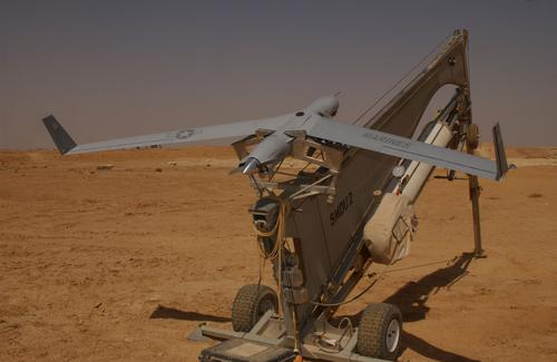 ScanEagle autonomous UAVs can fly in a swarm and communicate directly with ground personnel, without requiring a ground control station.   (Source: Boeing)
