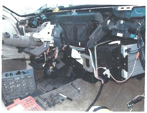 In order to repair the heater in his 1998 Oldsmobile, Bradley Miller had to take the entire interior apart.