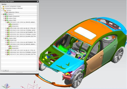 4GD, new technology folded in Teamcenter and other Siemens PLM Software offerings, aims to help users quickly find subsets of data related to their specific task without having to load entire complex assemblies or products.   (Source: Siemens PLM Software)