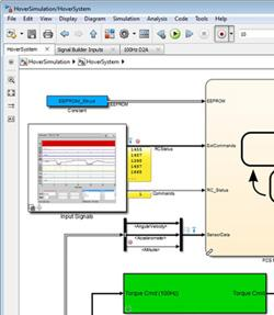 The new Simulink Editor features simulation rewind, tabbed windows, and an Explorer Bar. (Source: MathWorks)