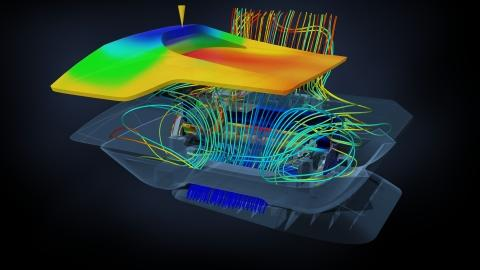 Autodesk Simulation 360 leverages the infinite processing power of the cloud platform to deliver an array of simulation capabilities on a pay-as-you-go basis.   (Source: Autodesk)
