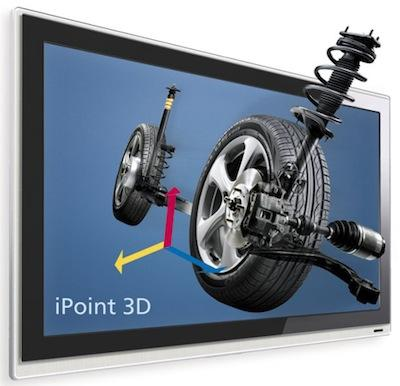 iPoint 3D components from the Fraunhofer Heinrich Hertz Institute (HHI) let people use their fingers to manipulate 3D images.