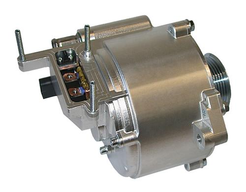 Continental Automotive's 15kW belt-driven motor-generator supports start-stop capabilities and regenerative braking while offering a performance boost for the vehicle. Start-stop mode saves fuel by turning the engine off at traffic lights. (Source: Continental Automotive)