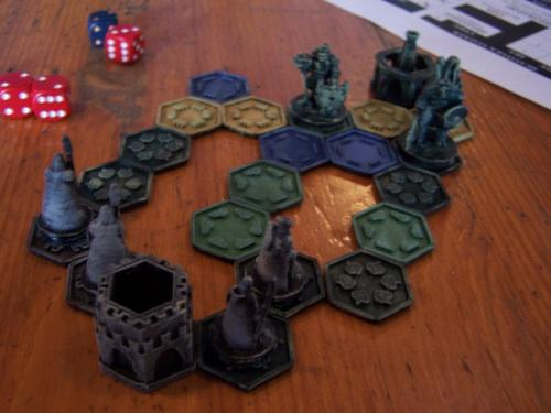 The plastic pieces that comprise the Pocket-Tactics strategy game are designed as 3D models in Tinkercad and SketchUp and can be outputted by any 3D printer.   (Source: Ill Gotten Games)