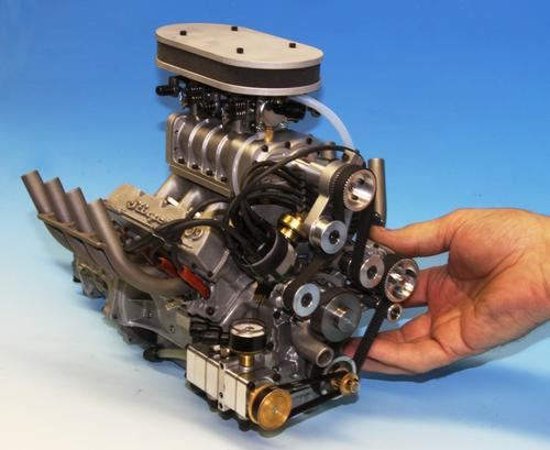 Conley's tiny, supercharged V-8 produces 9.5HP at 10,000rpm. (Source: Conley Precision Engines Inc.)
