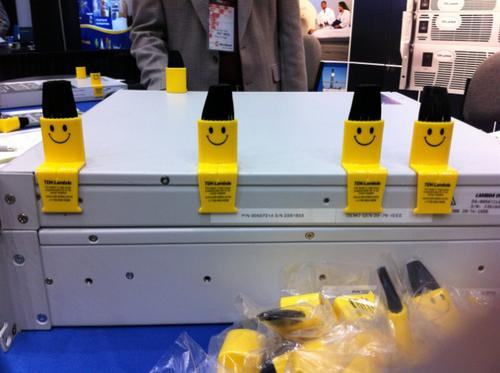 TDK-Lambda offered attendees a keyboard brush and 'a smiley face when you need one.'