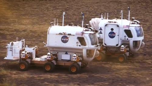 Humans exploring Mars will probably get around in a Humvee-sized rover with a pressurized cabin like this one NASA is testing in the Arizona desert. It contains about 70 parts made with a Stratasys production-grade Fortus printer, including pod doors, camera mounts, vents, and housings. 