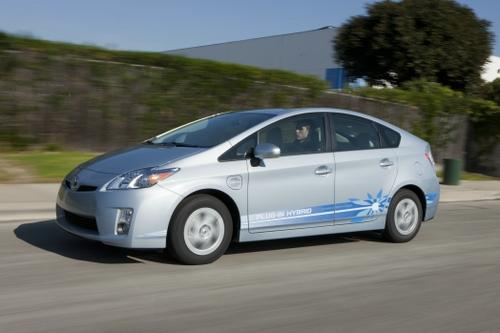 Light plug-in hybrids, like the Prius PHV, have a better near-term outlook than pure electric cars with big batteries.   (Source: Toyota Motor Corp.)