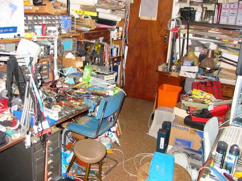Erich Voigt, an engineer in Cape Town, South Africa, says, 'My Home Desk? Damn! It was here somewhere...'