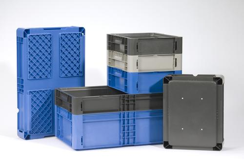 Closed-loop systems using regular plastic return containers are already fairly common, especially in the automotive industry. With containers like Schaefer's NewStac, these systems can even speed up assembly. (Source: Schaefer Systems International)