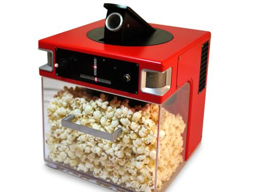 Popcorn, Indiana calls its Popinator a 'fully automated, voice activated popcorn shooter.' (Source: Popcorn, Indiana)