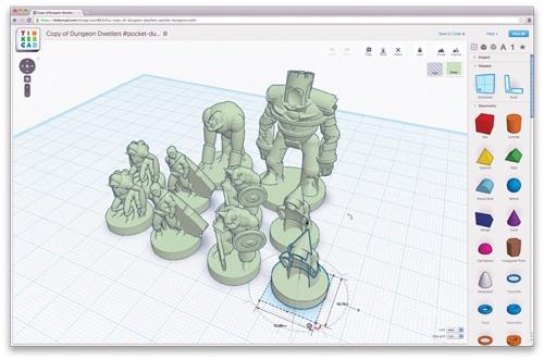 Touted as bringing 'browser-based CAD' to the masses, Tinkercad aims to make it easier for both professional engineers and novices to create 3D models for output to 3D printers.