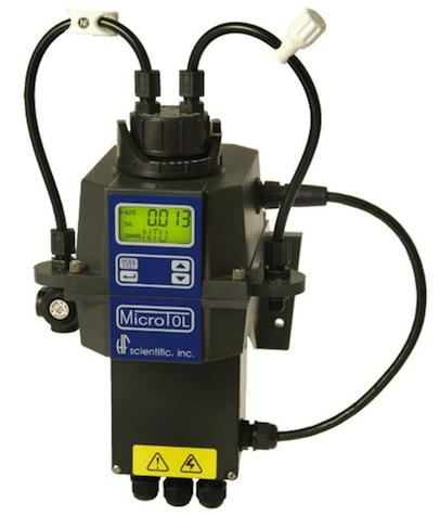 A Flow-Rite needle pinch valve is used on HF Scientific's MicroTOL Online Turbidimeter.