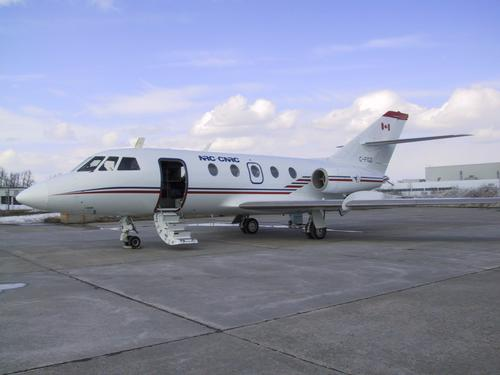 Canada's National Research Council and the Canadian Space Agency have used the Falcon 20 jet, with modified hydraulic and aircraft fuel systems, for performing parabolic flight maneuvers in microgravity experiments.   (Source: Canadian Space Agency)