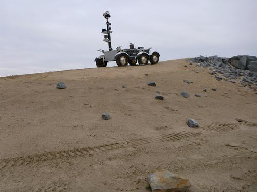 The Lunar Exploration Light Rover is the CSA's biggest new rover, at 900kg (1,984.16 pounds). The long-range robotic vehicle can travel up to 15km (9.32 miles) from its home base. It can carry up to 275kg (606.27 pounds) of science payloads, and it's designed to be a roving moon lab. It's also the fastest rover, with a maximum speed of 15kph (9.32mph) on its six wheels. An optional robotic arm can be attached so it can collect samples for onboard analysis. The robotic rover can be operated remotely and is semi-autonomous. It can scan its environment and navigate around obstacles without help from humans. (Source: Canadian Space Agency)