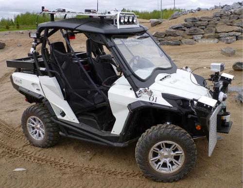 During the development of the Lunar Exploration Light Rover, BRP, a subcontractor of the prime subcontractor, MacDonald, Dettwiler and Associates Ltd., created the SL-Commander. This all-terrain vehicle is an electric version of BRP's commercially available BRP Commander. It is fully automated and can be remotely operated to drive itself at a maximum speed of 40kph (24.85mph). The SL-Commander weighs 1,100kg (2,425 pounds) and can carry a payload of 200kg (440.9 pounds). (Source: Canadian Space Agency)