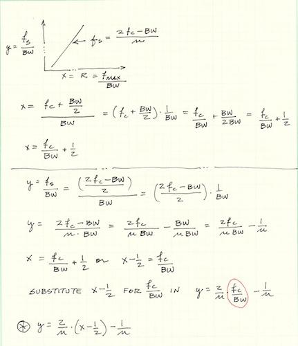 Algebra steps.