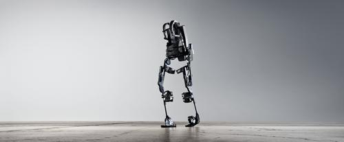 The Ekso wearable robot helps people who can't move their lower body take steps by anticipating their movements and making them for them.
