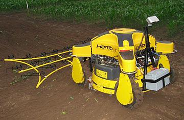The Hortibot is outfitted with a series of tools that can benefit several aspects of farming.   (Source: http://www.hortibot.dk/)