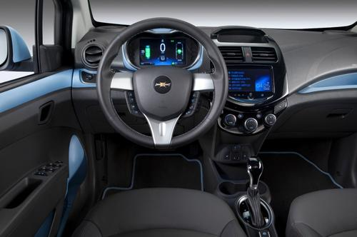 The Spark EV features two seven-inch LCD displays.   (Source: GM)
