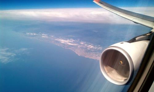 Research from the European Space Agency has helped to develop an aircraft-grade titanium-aluminum alloy that's half the weight of conventional nickel superalloys but has similar properties. This alloy could make jet turbine blades (such as this one shown in flight) 45 percent lighter. (Source: Creative Commons-A. Rueda)