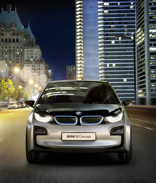 BMW's all-electric i3 is expected to hit the streets in 2013. It is expected to have a range of about 90 miles.   (Source: BMW)