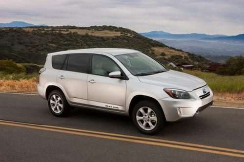 Toyota is testing the waters with its RAV4 EV, and is planning to make and sell just 2,600 of them over the next three years.   (Source: Toyota)